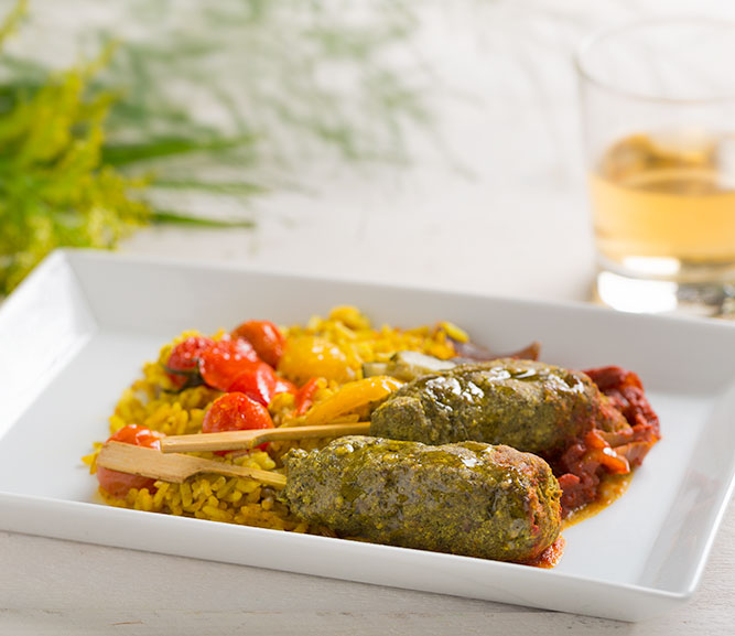 Lamb Kofte with Spicy Rice
